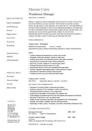 Warehouse Supervisor Resume Fascinating Warehouse Supervisor Resume Warehouse Supervisor Resume Simple