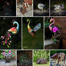 garden animals. SOLAR POWERED OUTDOOR GARDEN ORNAMENT PATH NOVELTY BIRD ANIMAL LED STAKE LIGHT Garden Animals