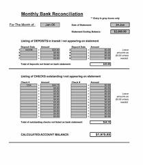 bank reconciliation form bank reconciliation spreadsheet microsoft excel