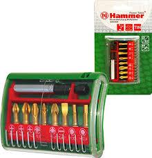 <b>Набор бит Hammer</b> Flex 203-904 PB, No4 Ph/Pz/Sl/H, 9 шт ...