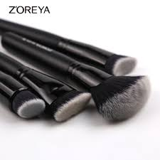aliexpress zoreya brand 4piece set super women foundation make up brushes set professional flat contour makeup brush tools fan brush set from