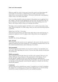 Resume Cover Letter Via Email Email Cover Letter Template How To