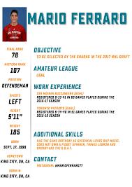Draft Class Resume: Mario Ferraro