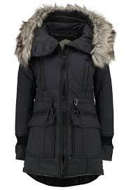 khujo retro bugs winter coat charcoal melange women coats khujo parka chantal for