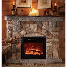rustic electric fireplaces stone designs ideas and decors country