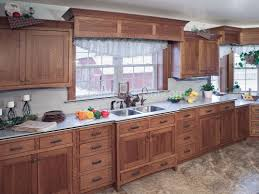 kitchen cabinets with wood misson style