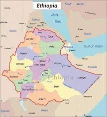 إثيوبيا المدن خريطة إثيوبيا خريطة المدن (شرق أفريقيا - أفريقيا)