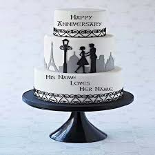 Write Name On Couple Anniversary Cake Online Free Imgur