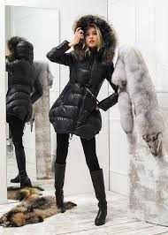 for women moncler jackets black fur hooded down coat 2016 in