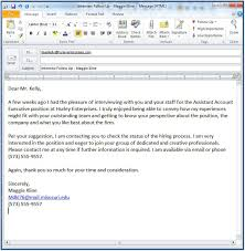 Best Photos Of Post Post Nterview Email Examples Post Interview