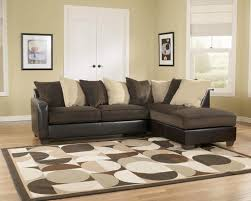 Big Brown Living Room Seating Area With Beautiful Sectional Sofa And  Decorative Table Lamp Set Near ...