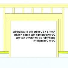 framing a garage door framing a garage door opening large size of