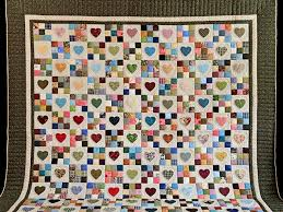Hearts and Nine Patch Quilt -- great ably made Amish Quilts from ... & ... Green and Multicolor Hearts and Nine Patch Quilt Photo 2 ... Adamdwight.com