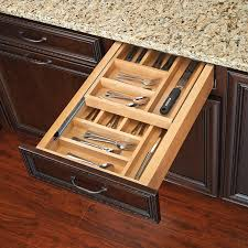 Tiered Shelves For Cabinets Rev A Shelf Tiered Double Cutlery Drawer For 18 Cabinet 4wtcd 21