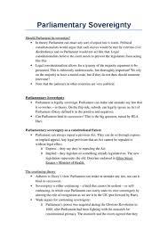 parliamentary sovereignty oxbridge notes the united kingdom parliamentary sovereignty notes