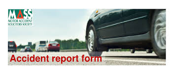 Accident Report Form To Keep In Your Car Mass Mass