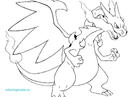 pokemon coloring pages mega charizard y page 18