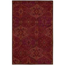 nourison india house red indoor handcrafted area rug common 3 x 4 actual