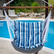 Tropical Palm Stripe Soft Comfort Hanging Hammock Chair | Hayneedle