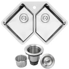 Ticor Bradford Corner Undermount 16 Gauge Stainless Steel 33 In 1
