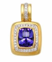 satin finish calla gold jewelry tanzanite and diamond enhancer pendant with satin finish