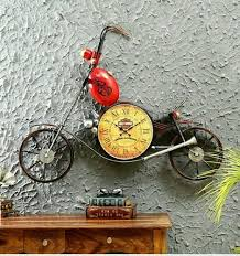 clock bike wall decor metal wall art