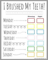 Tooth Brushing Incentive Chart Free Printable Printables