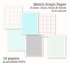 15 Metric Scale Graph Papers Centimetre Graph Paper Digital Graph Paper Pdf Printable Instant Download