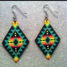 Native American Beaded Earrings Patterns Free