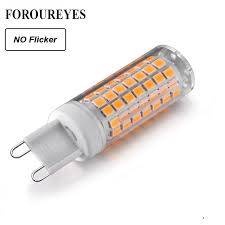 g9 led lamp no flicker ac220v 110v 2835smd 6w led light bulb 690lm super bright chandelier