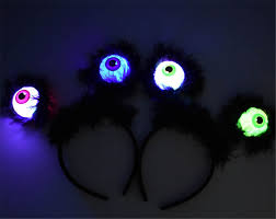 Light Up Alien Us 2 95 31 Off Halloween Led Flashing Alien Headband Black Feather Light Up Eyeballs Hair Band Glow Party Supplies Led Accessories In Glow Party