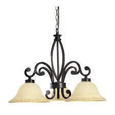 portfolio 3 light bronze chandelier