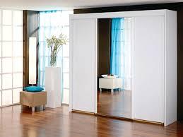 new york 3 door 1 mirror sliding door wardrobe in white