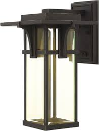 hinkley 2324oz led manhattan oil rubbed bronze led outdoor wall light fixture loading zoom