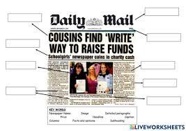 Examine popular online news blogs (ex: Newspaper Article Exercise