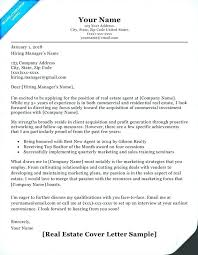 Cover Letter Sample Resume Cover Letter For Writers Real Estate
