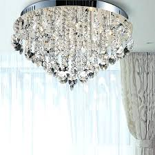 flush crystal chandelier contemporary ceiling lights crystal ceiling lamp semi flush inside contemporary flush mount crystal