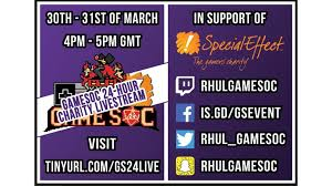 Rhul Games Society Is Fundraising For Specialeffect