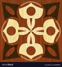 Wood Inlay Patterns Gorgeous Wooden Inlay Light And Dark Wood Patterns Veneer Vector Image