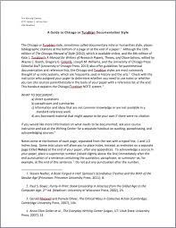 Example Of Chicago Style Essay Chicago Documentation Style Essay Examples Sample Essay