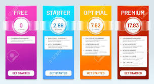 Pricing Template For Services Tariff Comparison List Tariffs Plans Price Banners And Choice
