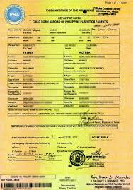 Psa Example How Get Psa Birth Certificate In 2019 Step By Step With