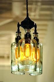 glass bottle chandelier jar kit e