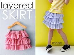 Girls tiered skirt pattern