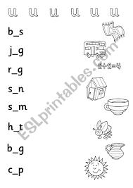 Cvc words and phonics activities for kids. Phonics Cvc Medial Vowel U Esl Worksheet By Alishen