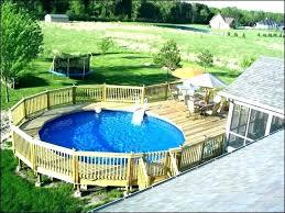 Above Ground Swimming Pool Deck Designs Impressive Inspiration Ideas