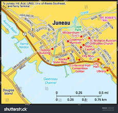 juneau alaska area map stock vector   shutterstock