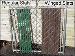 Unique Chain Link Fence Slats Comparison See Regular Winged On Design Decorating