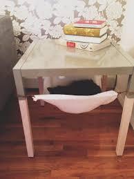 create an under table cat hammock
