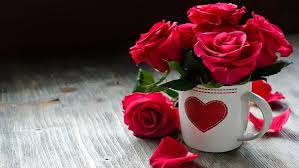 with love red heart roses cup flowers hd wallpaper 1907375